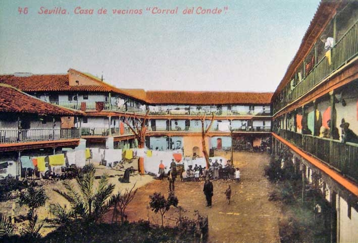 Corral del Conde - 1902 - Postal coloreada