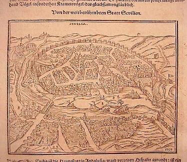 Sevilla - 1544 - Cosmographia - Sebastian Muenster