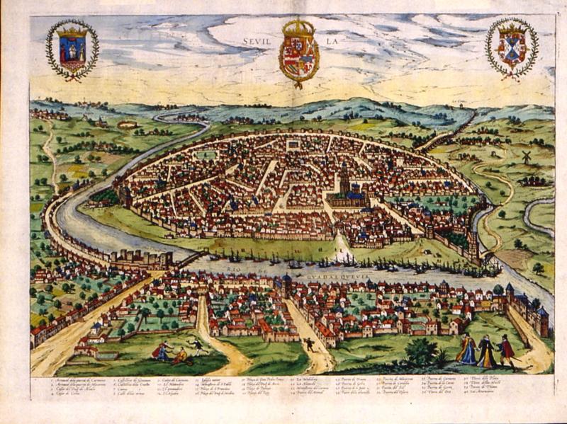 Sevilla - 1588 - Sevilla Circa - Joris Hoefnagel (Dutch, 1542-1600)