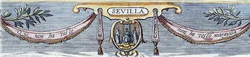 Sevilla - 1598 - Quien no ha visto Sevilla, no ha visto maravilla - Grabado - Parcial