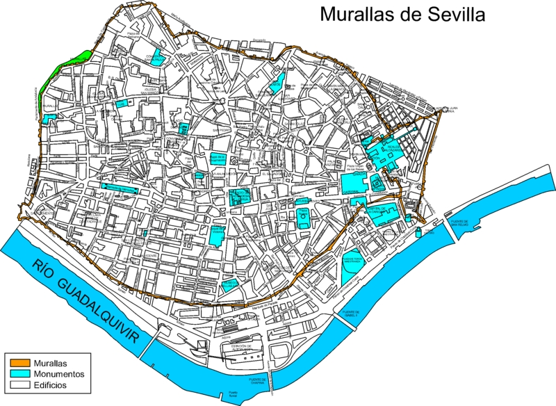 Sevilla - 16XX - Murallas de Sevilla s.XVII